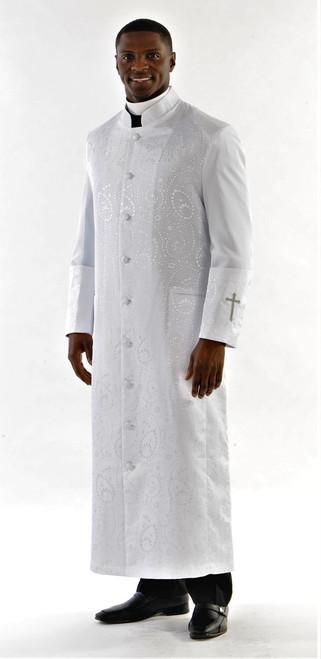 Gershon Clergy Robe For Men In White