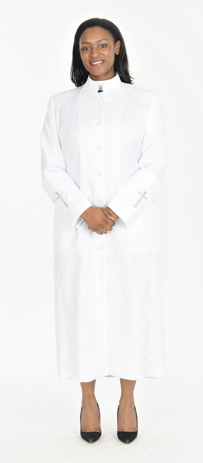 001. Gershon Clergy Robe For Ladies In White