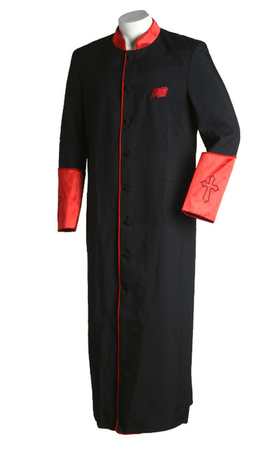 003.   Men's Asbury Clergy Robe in Black & Red
