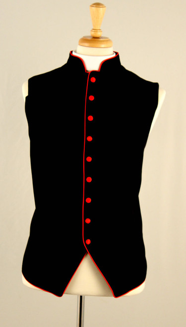 Clergy Vest In Black & Red
