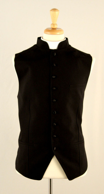 Clergy Vest In Black On Black