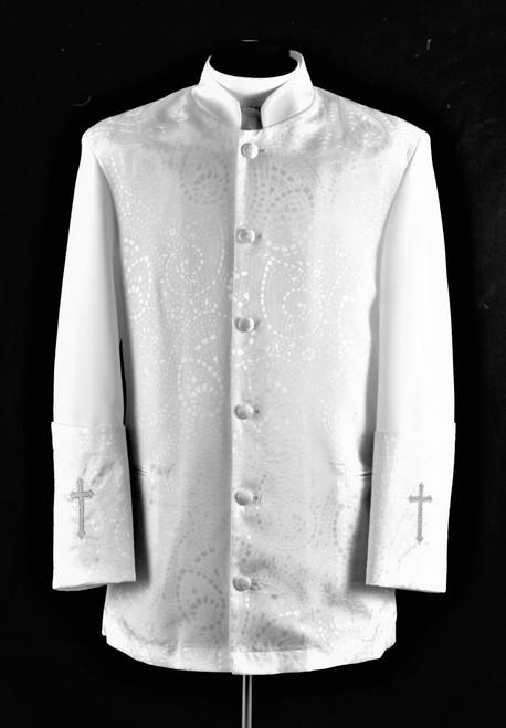001. Men's Gershon Clergy Jacket In White