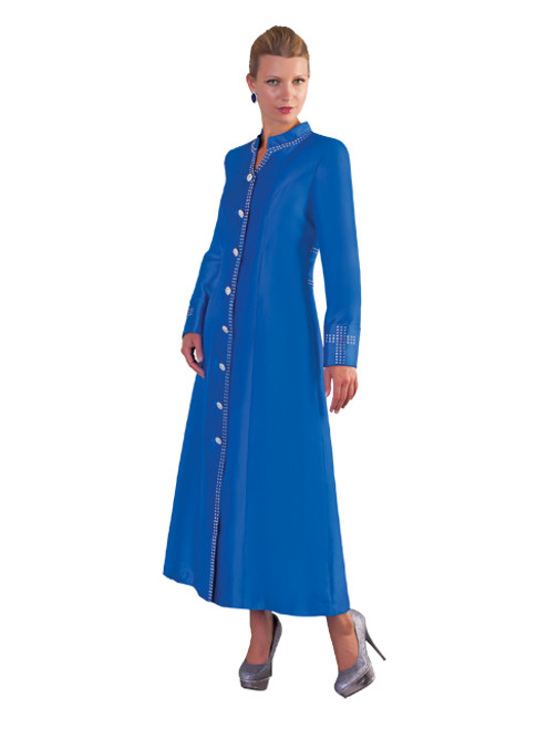 07. Ladies 1-Piece Preaching Robe Dress In Blue