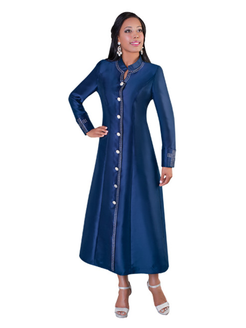 07. Ladies 1-Piece Preaching Robe Dress In Navy