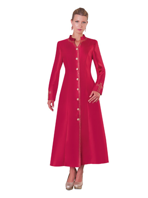 07. Ladies 1-Piece Preaching Robe Dress In Red