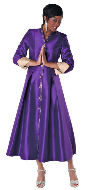 05. Ladies 1-Piece Preaching Dress In Purple