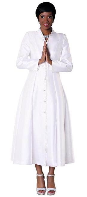 05. Ladies 1-Piece Preaching Dress In White