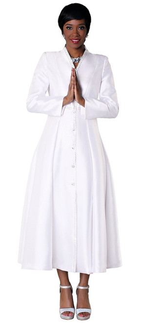 05. Ladies 1-Piece Preaching Dress In White
