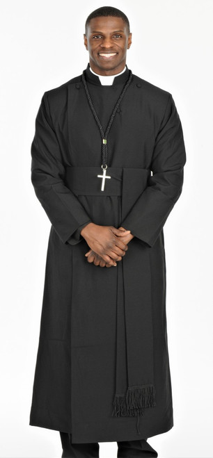 0001. Anglican Clergy Robe With Matching Cincture Belt - QUICK SHIP