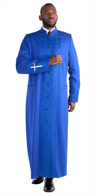 Men's Clergy Robe In Royal Blue