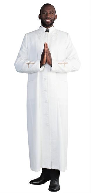 Men's Cain Clergy Robe In White