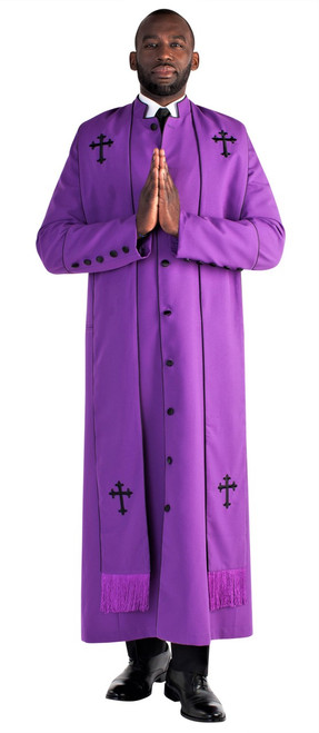 Men's Paul clergy robe in purple