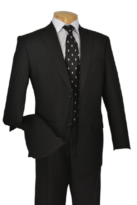 CLEARANCE:  Solid Suit In Black