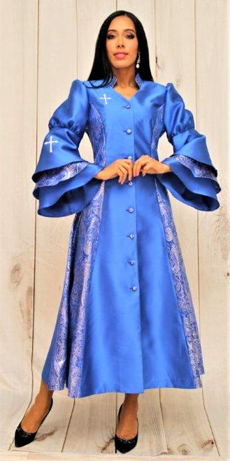 02. Ladies 1-Piece Preaching Robe Dress In Royal Blue