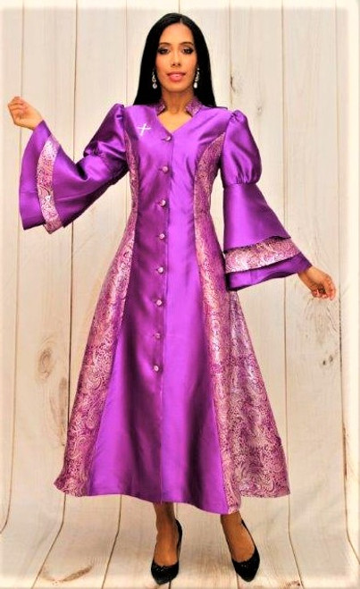 02. Ladies 1-Piece Preaching Robe Dress In Purple