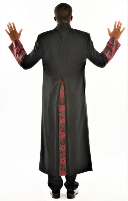 006. Men's Joseph Clergy Robe In Black & Red