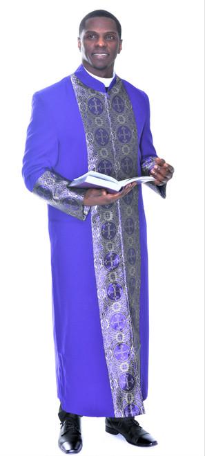 006. Men's Joseph Clergy Robe In Purple & Gold
