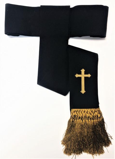 Clearance: Preacher Cincture Belt In Black & Gold