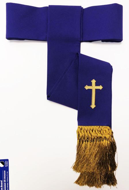 Clearance: Preacher Cincture Belt In Purple & Gold