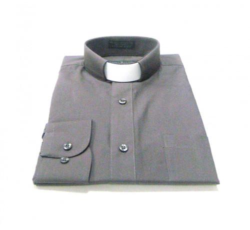 CLEARANCE 101: SHORT SLEEVE Tab Collar Clergy Shirt - CHARCOAL