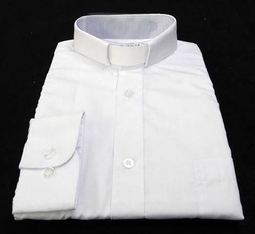CLEARANCE 101: SHORT SLEEVE Tab Collar Clergy Shirt - WHITE