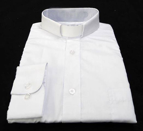 CLEARANCE 101: SHORT SLEEVE Tab Collar Clergy Shirt - WHITE