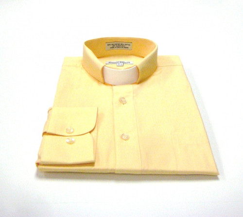 CLEARANCE 101: SHORT SLEEVE Tab Collar Clergy Shirt - CANARY
