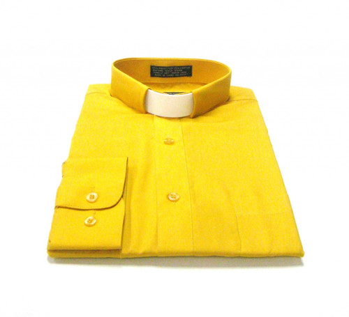CLEARANCE 101: SHORT SLEEVE Tab Collar Clergy Shirt - GOLD