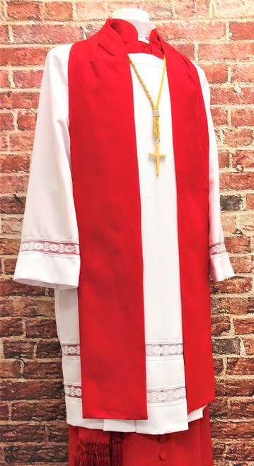 0002 Men's Non-Denominational Vestment in Red - 6 Pieces Included