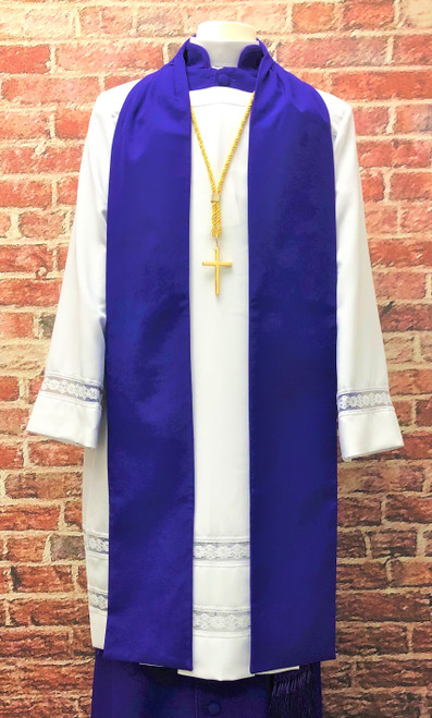 0001 Men's Non-Denominational Vestment in Purple - 6 Pieces Included