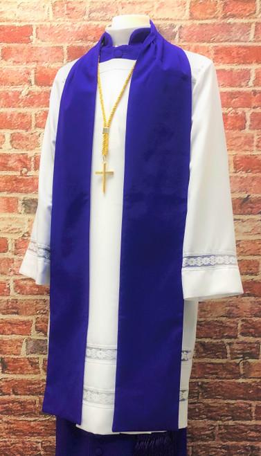 0001 Men's Non-Denominational Vestment in Purple - 6 Pieces Included