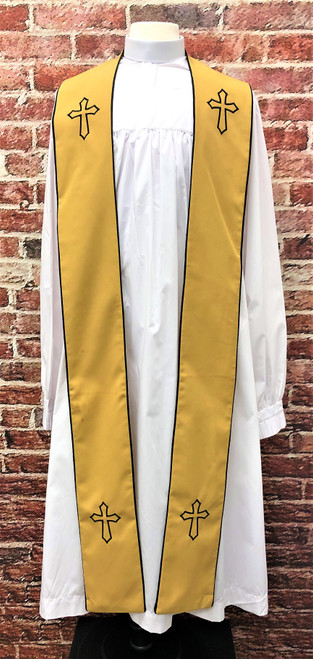 001. Trinity Clergy Stole in Gold & Black