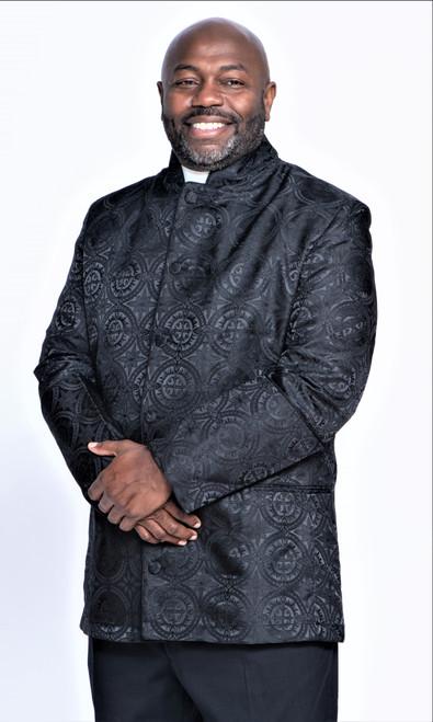 001. Men's Joshua Clergy Jacket in Black