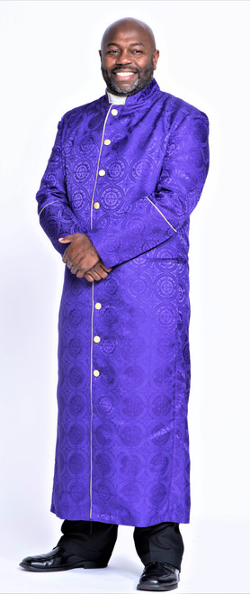 001. Men's Joshua Clergy Robe in Purple & Gold