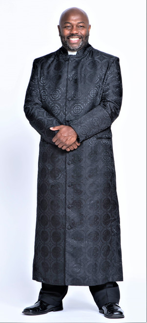 001. Men's Joshua Clergy Robe in Solid Black