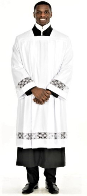 Surplice With Liturgical Cross Lace
