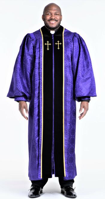 0001 Men's JT Wesley Pulpit Robe in Purple