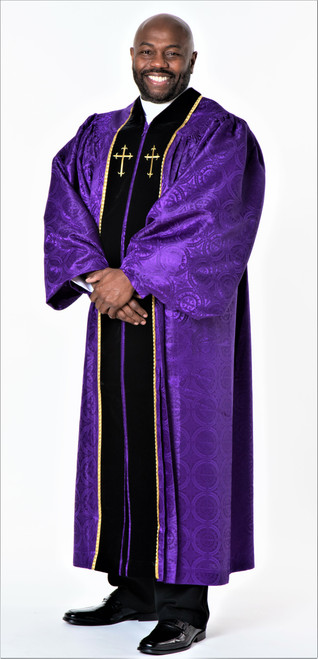 0001 Men's JT Wesley Pulpit Robe in Purple