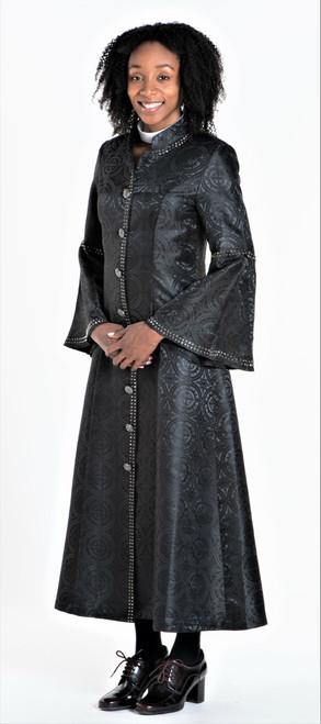 001 Ladies 1-Piece Designer Clergy Dress In Black