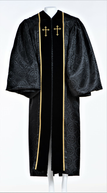 0001 Ladies JT Wesley Pulpit Robe in Black
