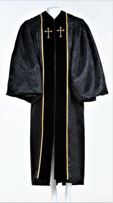 Ladies JT Wesley Pulpit Robe in Black