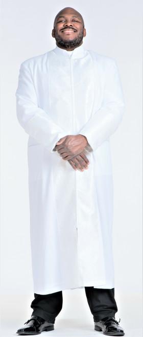 006. Men's Joseph Clergy Robe In White on White