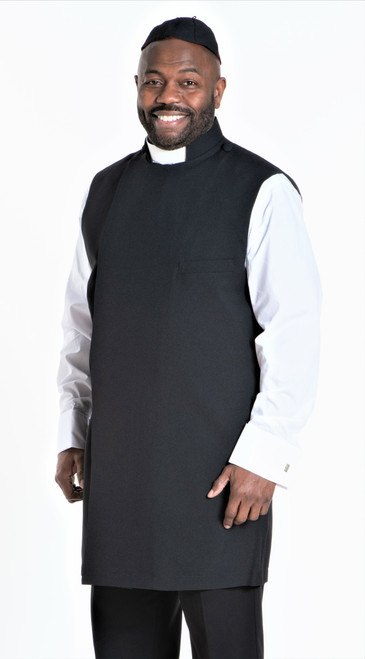Clergy Apron Set In Black With Matching Zucchetto