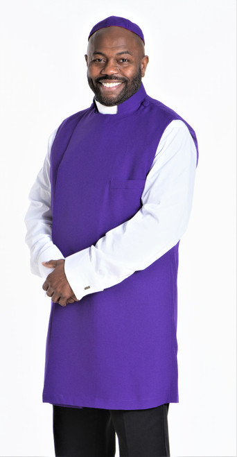 Clergy Apron Set In Purple With Matching Zucchetto