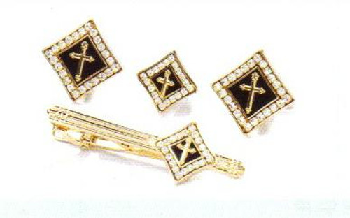 4d diamond gold black cross