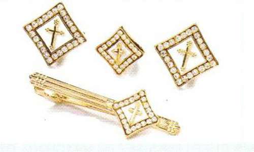 4d diamond gold white cross