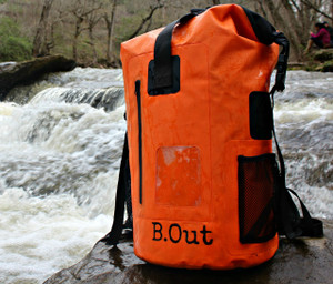 100% Water Proof Shoulder Backpack Floats safely if dropped in water Suitable for quick submersion Water Proof, Sand Proof, Dust Proof, Dirt Proof High frequency welded seams Made of 500D  PVC tarpaulin Durable, wipe clean and easy to store away Multi-purpose storage application Heavy duty and durable materials for rough usage    It is 100% waterproof, will float if dropped in the water and handle a quick submersion.  must be sealed correctly and not overfilled.  PERFECT DRY BACKPACK hiking, camping, survival bag, rafting, beach, pool. great for keeping items safe and dry like keys, wallets, cell phone, camera, ipad, etc...  It will keep your clothes dry and floats if dropped in the water. Made from 500D polyester -coated tarpaulin.  Easily sealed with the Fold Seal System.  High visibility orange allows you to spot it from a distance.