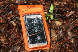 "Waterproof. Sand Proof. Dust Proof. Dirt Proof.  Fully submersible. Great for beach, pool, water parks, camping, and kayaking.   Measures 4.25 in. x 8.27 in. and/or 10.8 cm x 21 cm, fitting most phones.  With triple fold seal technology, you can't get water in this bag -- it does not leak!    Waterproof phone bag is designed not to hinder touch screen use even underwater.  Transparent front and back so as not to interfere with camera usage.  The lanyard is durably designed to weave through the back of the bag, so the bag (and your phone) doesn't snap off like the other ""popular"" style."