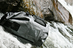 "100% Water Proof Shoulder Backpack Floats safely if dropped in water Suitable for quick submersion Water Proof, Sand Proof, Dust Proof, Dirt Proof High frequency welded seams Made of 500D  PVC tarpaulin Durable, wipe clean and easy to store away Multi-purpose storage application Heavy duty and durable materials for rough usage    It is 100% waterproof, will float if dropped in the water and handle a quick submersion.  must be sealed correctly and not overfilled.  PERFECT DRY BACKPACK hiking, camping, survival bag, rafting, beach, pool. great for keeping items safe and dry like keys, wallets, cell phone, camera, ipad, etc...  It will keep your clothes dry and floats if dropped in the water. Made from 500D polyester -coated tarpaulin.  Easily sealed with the Fold Seal System.  This is the perfect ""grey man"" color.  The grey man theory as a way of disappearing into the crowd so you can move unnoticed when disaster strikes or you want to go unnoticed. The idea is that you can conceal your preparedness by blending in with the crowd before or during an emergency."