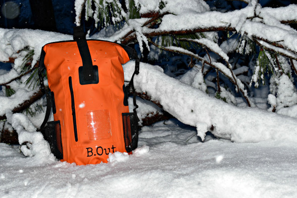 "Customer reports: ""Took the bag to Iceland over Thanksgiving, did some ice caving and ice climbing and the bag performed great.""  Waterproof = Snow Proof = Ice Proof"